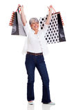 Senior woman shopping Stock Photo