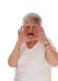 Senior Woman Shouting. Royalty Free Stock Images