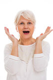 Senior woman shouting Royalty Free Stock Photography