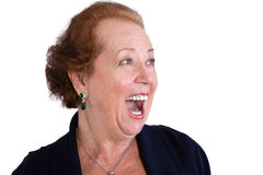 Senior Woman Showing a Surprised Expression Stock Images