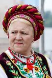 Senior woman singing traditional ukrainian song,Kiev,Ukraine Stock Photography