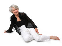 Senior Woman Sitting Stock Photos