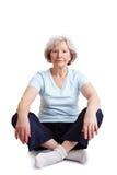 Senior woman sitting in tailor seat Royalty Free Stock Photo