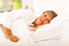Senior woman sleeping Royalty Free Stock Photos