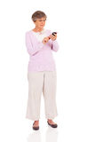 Senior woman smart phone Royalty Free Stock Photos