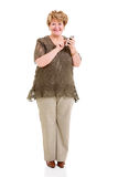 Senior woman smart phone Stock Images