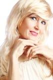 Senior woman smiling beautiful Stock Image