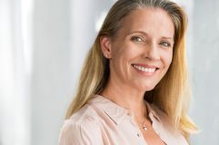 Senior woman smiling face royalty free stock images