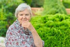 Senior woman smiling. Stock Image