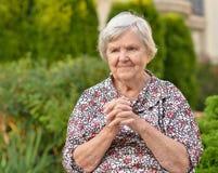 Senior woman smiling. Stock Photo