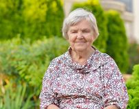 Senior woman smiling. Stock Photos