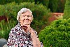 Senior woman smiling. Royalty Free Stock Photo