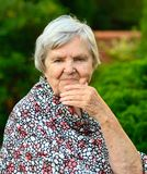 Senior woman smiling. Royalty Free Stock Image