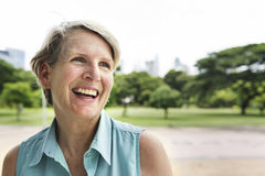 Senior Woman Smiling Lifestyle Happiness Concept Stock Photography