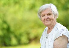 Senior woman. Royalty Free Stock Photos