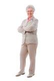 Senior woman standing stock photo