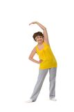 Senior woman stretching Royalty Free Stock Photography