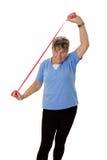 Senior woman stretching Stock Photo