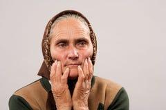 Senior woman studio portrait Stock Photos