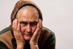 Senior woman studio portrait Stock Image