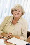 Senior woman studying stock photo