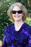 Senior Woman Sunglasses Stock Image