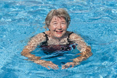 Senior Woman Swimming Royalty Free Stock Image