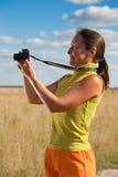Senior woman taking photo Royalty Free Stock Photo