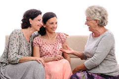 Senior woman talking family Royalty Free Stock Photo