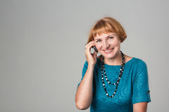 Senior Woman Talking On Mobile Phone Stock Image