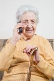 Senior woman talking on phone Stock Image
