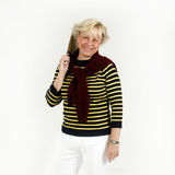 Senior woman with tennis racket Stock Photo