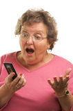 Senior Woman Texting on Cell P Stock Photo
