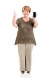 Senior woman thumb up Stock Photos