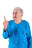 Senior woman thumbs up Stock Photo