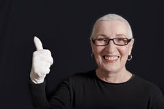 Senior Woman With Thumbs Up Royalty Free Stock Photo
