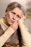 Senior woman with tooth pain Royalty Free Stock Photos