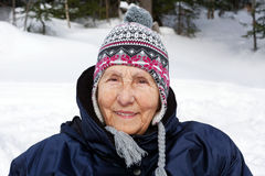 Senior woman with toque Stock Photos