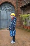 Senior woman tourist waiting to enter Domus Aurea Royalty Free Stock Photography