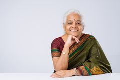 Senior woman in traditional clothes Stock Photo