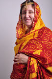Senior woman wearing traditional Indian clothing a Royalty Free Stock Photo