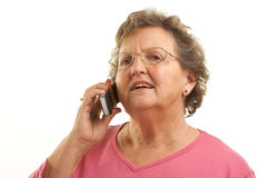 Free Senior Woman Using Cell Phone Royalty Free Stock Photos - 4894028