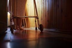 Senior woman using walker at home Royalty Free Stock Photo