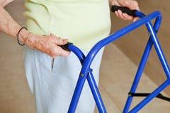 Senior Woman Using Walker Royalty Free Stock Image