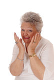 Senior woman very happy. Royalty Free Stock Images