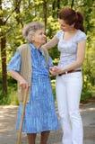 Senior woman walking Stock Photography