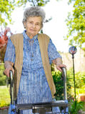 Senior woman walking Stock Images