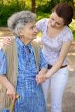 Senior woman walking Royalty Free Stock Image