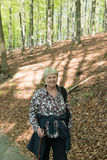 Senior woman walking Royalty Free Stock Photography