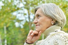 Senior woman walking Stock Image